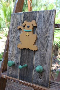 Handcrafted Dog Leash Holder Wall Mounting Hat Holder Coat Rack