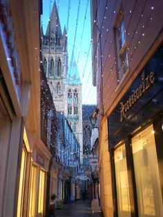 Truro... Christmas lights... Cornwall (UK)...