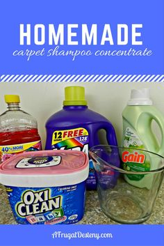 When you have dogs and babies, clean carpets are a necessity! Make your own shampoo for a fraction of the cost of the stuff at the store! #clean #cleaning #diy #homemade #shampoo #carpets #frugal #sahm
