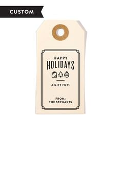 Winter Icons Customized Holiday Gift Tag Stamp