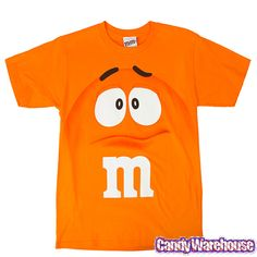 M & M's Candy Orange Character Face T-Shirt