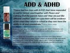 Vetiver and Peace & Calming for ADD & ADHD www.youngliving.org/MarieYL