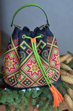 """Купить Сумка """"Рождественская звезда"""" - комбинированный, орнамент, сумка ручной работы, сумка мешок"""