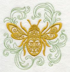 Machine Embroidery Designs at Embroidery Library! - - Machine Embroidery Designs at Embroidery Library! Machine Embroidery Thread, Bee Embroidery, Machine Embroidery Projects, Learn Embroidery, Cross Stitch Embroidery, Embroidery Ideas, Embroidery Digitizing, Embroidery Alphabet, Filigranes Design