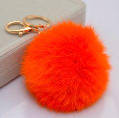 Fur Pom Key Chain