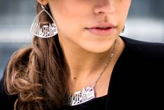 NY skyline necklace and earrings