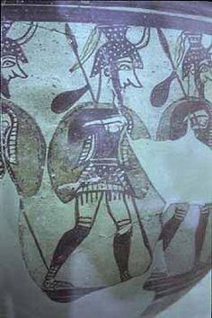 Mycenaean Pottery ~ Detail of Warrior Krater.