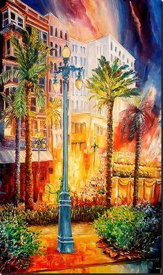 New Orleans Art by Diane Millsap Original Oil on Canvas 7 Ft. x 3 Ft. New Orleans Art, New Orleans Mardi Gras, Louisiana Art, New Orleans Louisiana, John Blake, Mardi Gras Party, Love Art, Art Photography, Art Gallery