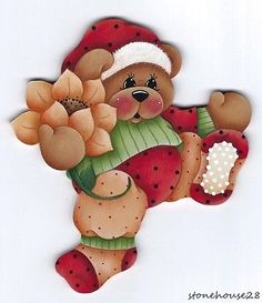 HP-TEDDY-BEAR-with-Sunflower-FRIDGE-MAGNET