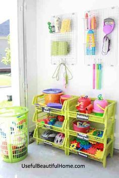 Garage ,organized kid toys