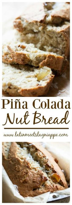 Light hints of coconut and banana, with bits of walnuts and pineapple make this Piña Colada Nut Bread total breakfast treat.  #SundaySupper