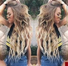 my hair is that length but never looks that good! My Hairstyle, Pretty Hairstyles, Love Hair, Gorgeous Hair, Bayalage Blonde, Blonde Ombre, Aspen Mansfield, Coiffure Hair, Hair Day