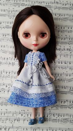 Dress for Neo Blythe dolls. Christmas dress.