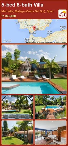 Villa for Sale in Marbella, Malaga (Costa Del Sol), Spain with 5 bedrooms, 6 bathrooms - A Spanish Life Marbella Malaga, Marbella Club, Malaga Spain, Open Plan Living, Sandy Beaches, Maine House, Water Features, Garden Landscaping, Bungalow