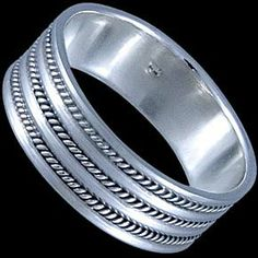Silver ring, band Silver ring, Ag 925/1000 - sterling silver. A simple and elegant band.
