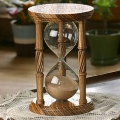 Solid Zebrawood Hourglass - Buy Online at JustHourglasses.com