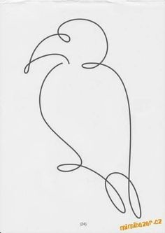 Single Line Drawing, Continuous Line Drawing, Animal Line Drawings, Line Art Tattoos, Wire Crafts, Home And Deco, Free Motion Quilting, Wire Art, Line Design