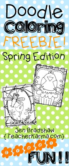 Spring and Easter Doodle Coloring FREEBIE!
