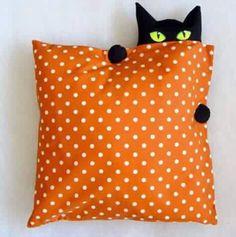 A pumpkin instead of a pillow?  hmmmm - I have an idea.....
