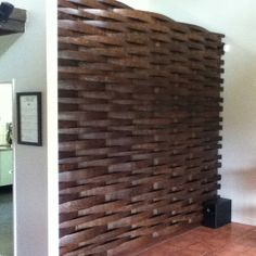Wall made out of barrel staves