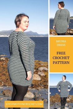 You're going to love the crochet Bruma Dress. It's the perfect top down crochet dress for fall and winter. The best thing about this dress is the fact Love Crochet, Vintage Crochet, Crochet Hooks, Knit Crochet, Crochet Sweaters, Crochet Granny, Knitting Designs, Knitting Tutorials, Crochet Patterns