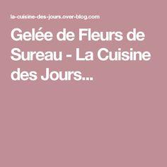 Gelée de Fleurs de Sureau - La Cuisine des  Jours...