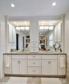 Bathroom Vanities With Tower Storage Double Vanity With