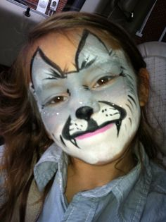 A Face Paint Dogs On Pinterest Wolf Paint Paintings And