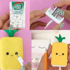 Trendy Diy School Supplies Kawaii Ideas - Diy And Crafts Diy Crafts For School, Diy Crafts For Girls, Diy Back To School, Crafts To Do, Summer Crafts, Kawaii Crafts, Kawaii Diy, Jar Crafts, Cute Crafts