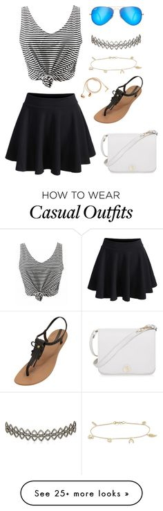 """Casual"" by jossy-lovell on Polyvore featuring WithChic, IPANEMA, Ray-Ban, Assya London, Jennifer Meyer Jewelry, Happy Plugs, Furla, casual and Random"