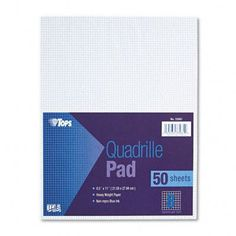 TOPS BUSINESS FORMS                                Quadrille Pads, 8 Squares/Inch, 50 Sheets / Pad