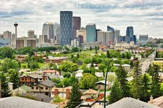 Calgary Skyline Bridgeland Alberta Canada