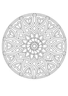 Mandala color page. Miscellaneous coloring pages. Coloring pages for kids. Thousands of free printable coloring pages for kids! Abstract Coloring Pages, Flower Coloring Pages, Mandala Coloring Pages, Coloring Book Pages, Coloring Pages For Kids, Coloring Sheets, Mandala Pattern, Zentangle Patterns, Zentangles