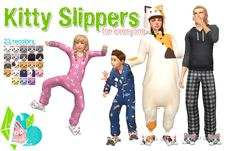 Kitty Slippers - This is the first sims 3 to sims 4 CAS item that I have converted and they were so annoying and a huge learning experience! A huge HUGE thank you to Andrew at @sims4studioofficial for helping me with the UV_1 mapping (and answering...