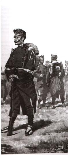 """""""Uniforme de los soldados españoles durante la campaña de 1859-1860"""""""