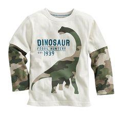Мультфильм динозавра мальчиков с длинным рукавом для 18M 6Years дети дети мальчики вершины тройники майка продается 1 шт. бесплатная доставка купить на AliExpress