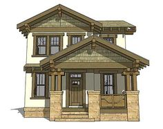 Great Craftsman Bungalow! Architectural Designs House Plan 44119TD.  Just under 2,100 sq. ft. 3 beds, 2 full and 1 half bath Detached 2 car garage comes with plans