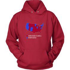 Election  Map Funny Dumbfuckistan TShirt Products Funny - Tee shirt us map dumbfuckistan