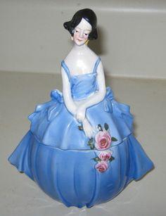 Nancy Pert Powder Box Half Doll Dresser Doll Erphila Germany | eBay