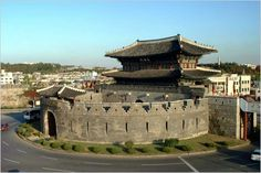 Part of the Hwaseong fortress in Suwon. Built by King Jeongji (22nd ruler of the Joseon Dynasty) in 1794 and completed in 1796 A.D.
