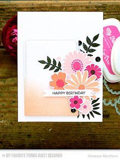 Large Desert Bouquet, Birthday Bears, Large Desert Bouquet Die-namics, Zig Zag Stitched Rectangle STAX Die-namics - Vanessa Menhorn  #mftstamps