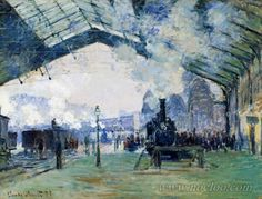 Claude Monet - Saint-Lazare Station, the Normandy Train (1877)
