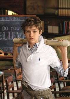 New face of RL Kids: Levi Miller serves as the new brand ambassador for Ralph Lauren Children's wear. Levi is the star of the upcoming film Pan. So talented. Beautiful Children, Beautiful Boys, Baby Boy Fashion, Kids Fashion, Levi Miller, Little Boy Haircuts, Young Boy Haircuts, Kids Cuts, Ralph Lauren Kids