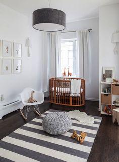 Un cuarto de bebé en paleta de grises / a baby room in shades of grey #baby room #grey #gray