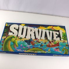 Survive! Parker Brothers Vintage 1982 Board Game - Complete Sea Ocean Family #ParkerBrothers