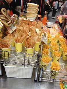 Korean street food Myung dong
