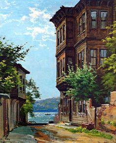 Dol gönlüme... meltemler esin esin dilim bir İstanbul der... ruhum bin raks etsin rüzgarlarında dallar Selam... unutmayan unutulmayan eski dostlar eski dostlar ESER...............SULARIN RESSAMI AHMET YAKUPOĞLU City Landscape, Landscape Photos, Landscape Paintings, Clay Wall Art, Oil Painting Pictures, Turkish Art, Building Sketch, Lovers Art, Home Art