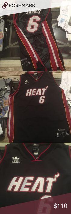 Adidas authentic Lebron Heat jersey Ltd.edition Adidas NBA authentic Lebron  James Miami Heat pro 142ac80c4