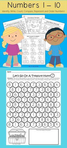 Numbers 1-10 (Kindergarten Math - Back to School)
