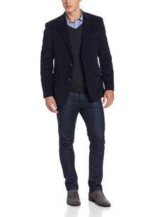 Tommy Hilfiger Men`s Trim Fit 2 Button Side Vent Notch Lapel Ethan Sport Coat - List price: $225.00 Price: $159.99 Saving: $65.01 (29%)